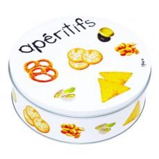 Круглая металлическая коробка для снеков Gourmet Apéritifs