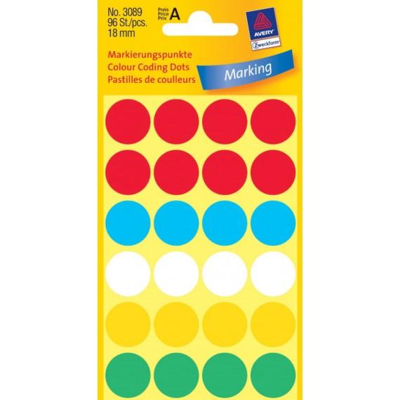 Круглые цветные наклейки