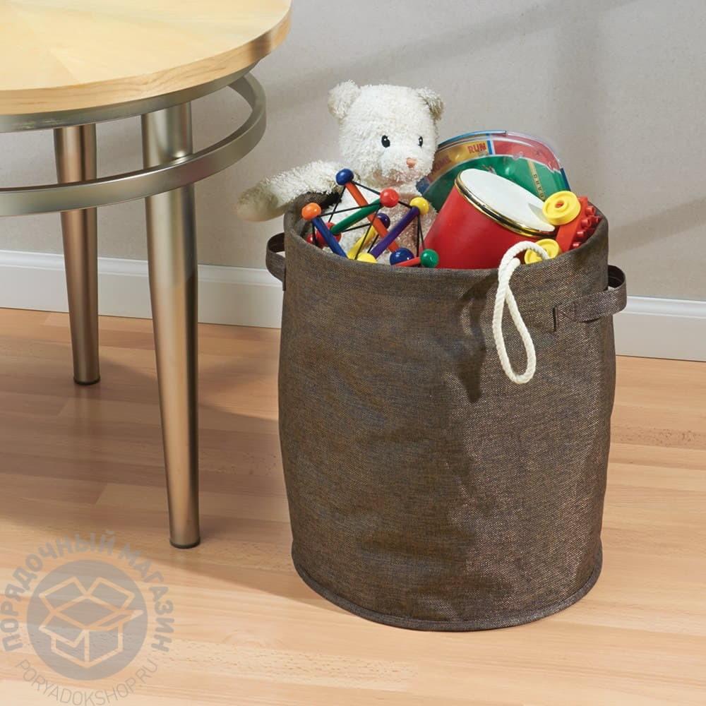 Корзина для игрушек текстильная своими руками