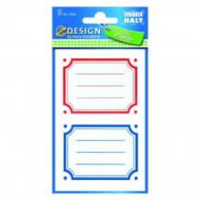 Перманентные наклейки с цветной рамкой