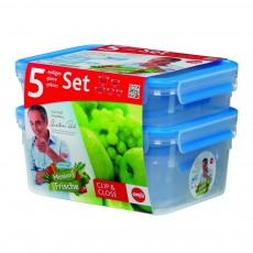 Набор контейнеров CLIP&CLOSE 5 шт (0,25-2,3 л)