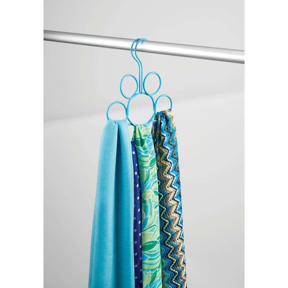 interdesign-turquoise-classico-petal-scarf-holder